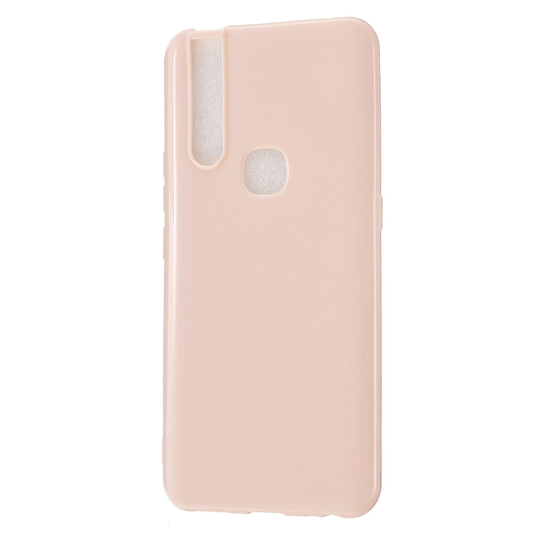 For VIVO V15/V15 Pro Cellphone Cover Slim Thin TPU Case Shock Absorption Mobile Phone Protective Cover  Sakura pink