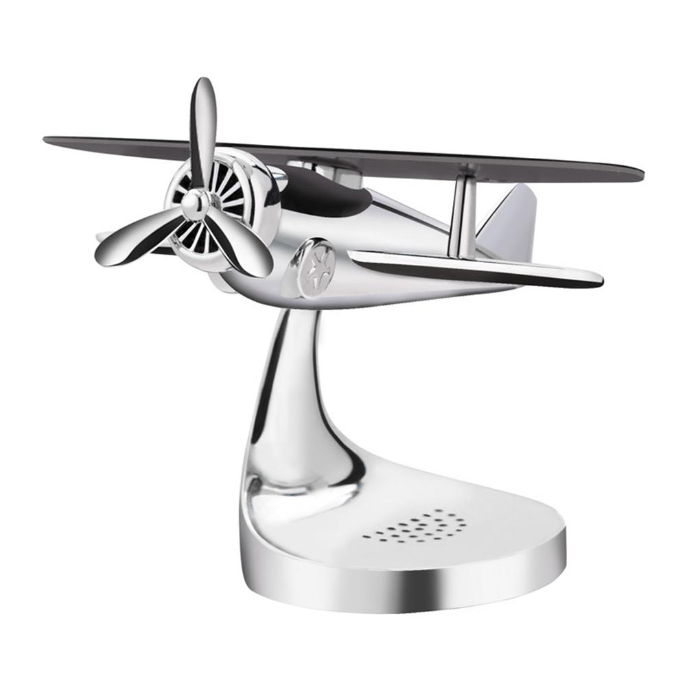 Car-styling Solar Power Car Perfume Aircraft Model Ornament Airplane Aroma Diffuser Decor Car Parfum Profumo Auto