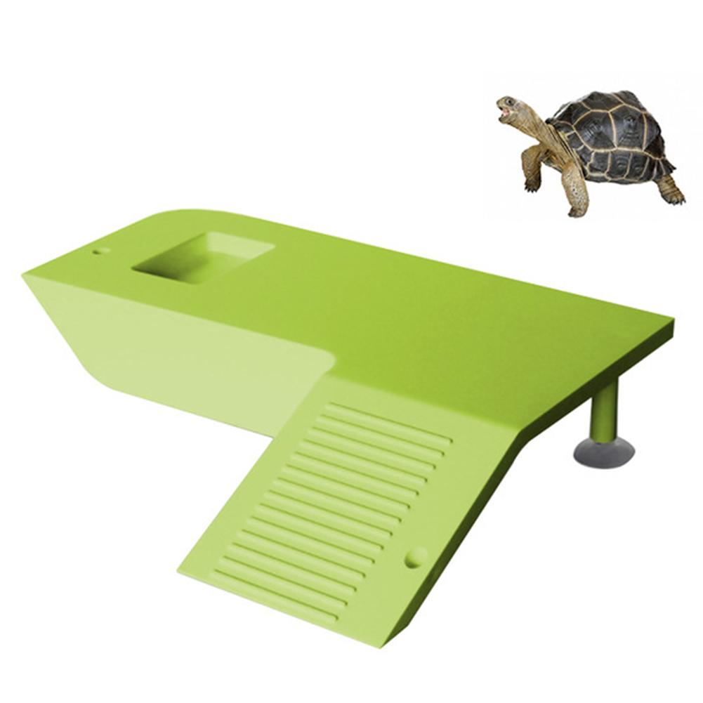 Turtle Frog Floating Island Aquatic Pet Reptile Supplies Aquarium Ornament Turtle Pier Reptile Habitat  green_Climbing  platform