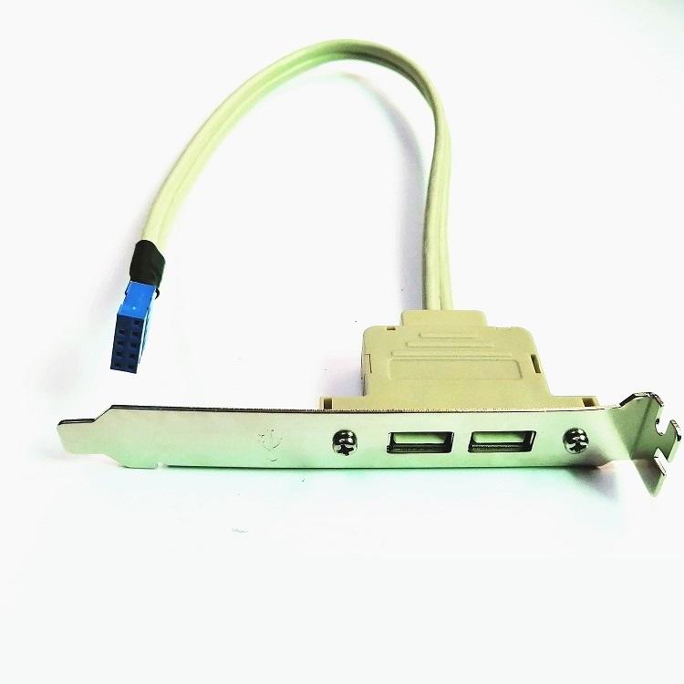 USB 2.0 Motherboard PCI Bit Desktop Computer Case Rear Panel Expansion Bracket USB2.0