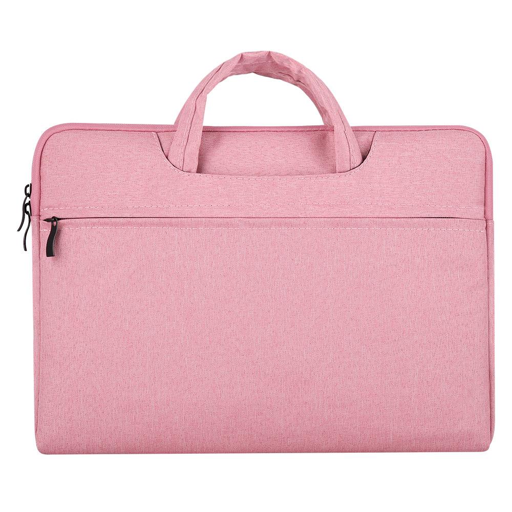 Portable Storage Bag Oxford Cloth Laptop Bag Waterproof Protective Storage Bag Pink_15.6 inches