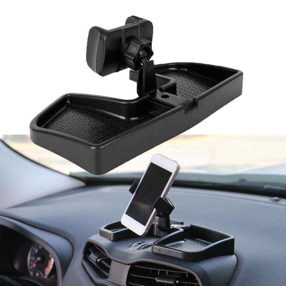 Car Cellphone Holder ABS Mobile Phone Rack Car-Mount Bracket Kit for Jeep Renegade 2015 16 2017 - Black black