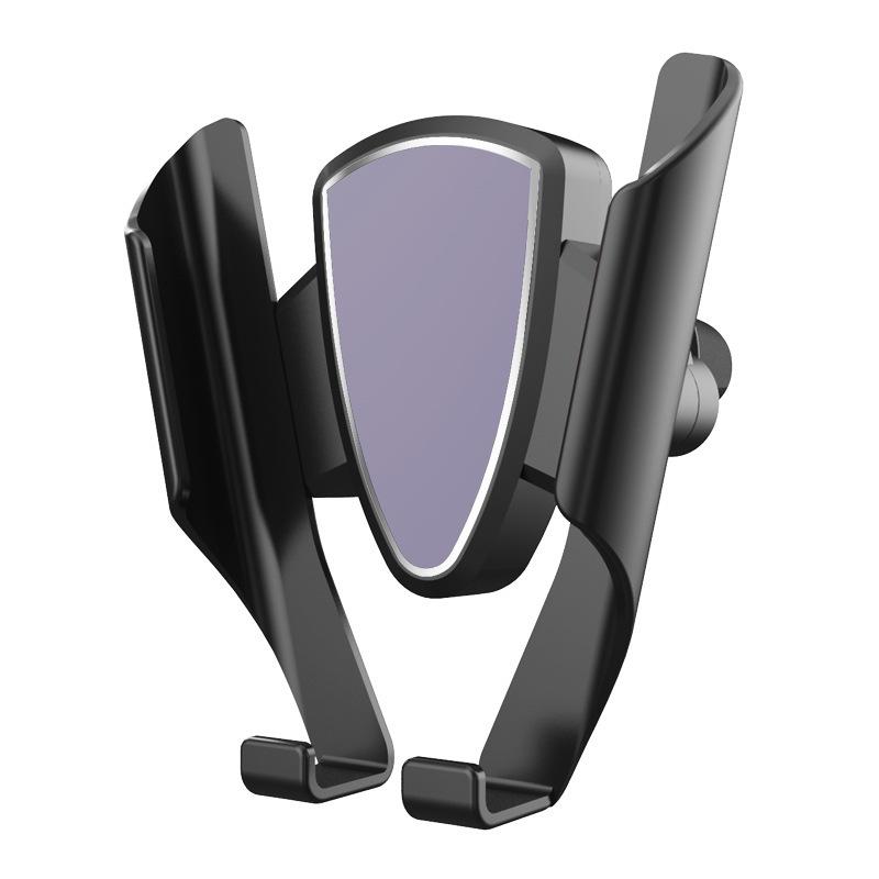 Car Gravity Mobile Bracket Air Vent Mount Metal Universal Smart Phone Holder Gifts  black