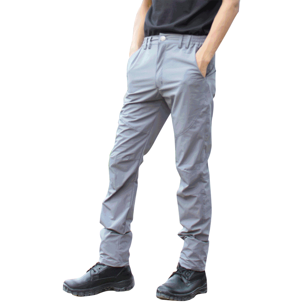 Men Thin Wear Resistant Cargo Pants with Pockets gray_XL