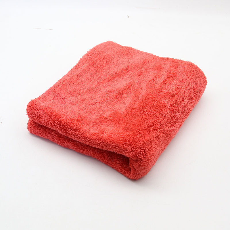 Double-sided Thickened Coral  Velvet Towel Fine Fiber Waxing Towel Cleaning Kit for Car
