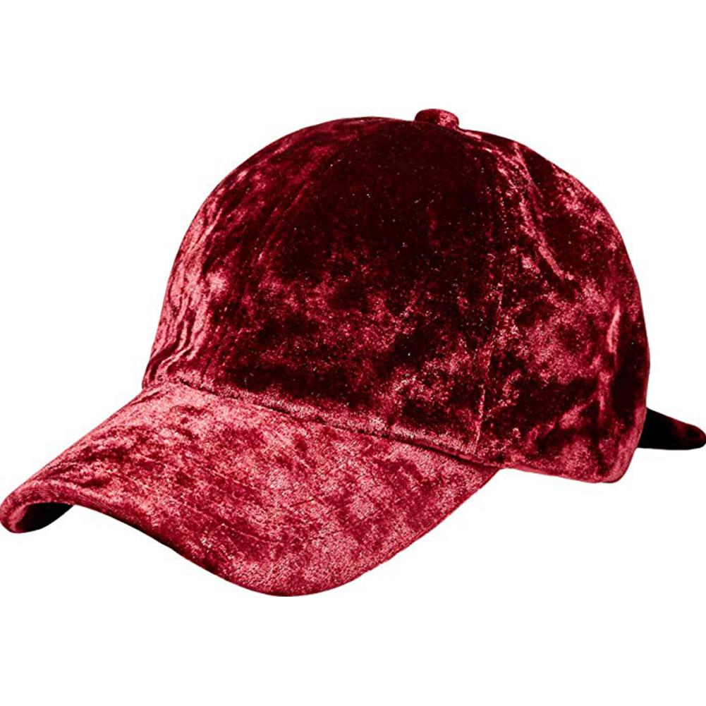 Women Autumn/Winter Warm Baseball Cap Curved Eaves Leisure Sports Cap