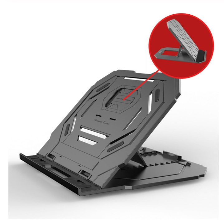 Multi-Angle Adjustment PC Bracket/Holder Rotating Laptop Stand Flexible with Turntable Attach Phone Bracket Black (without turntable)