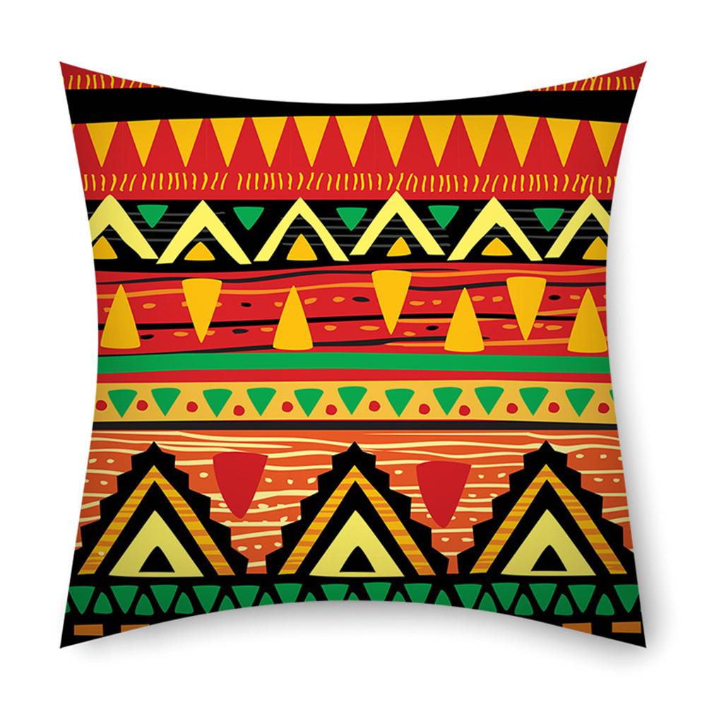 Colorful Striped Pillowcase 45*45cm Linen Pillow Case Sofa Cushion Cover 1