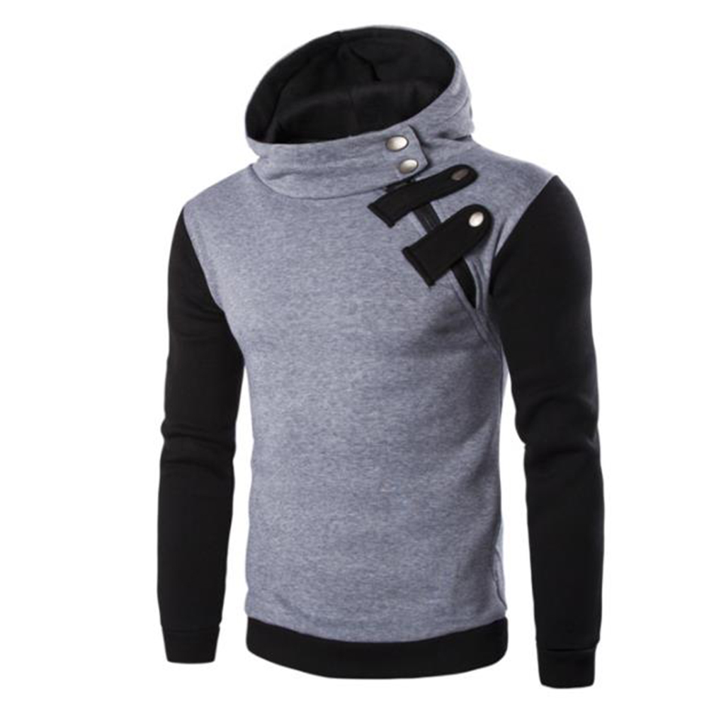 Men's Cause Hooded Slim Fit Cotton Long Sleeve Pullover Sweatershirt Tops Hoodies light grey_2XL