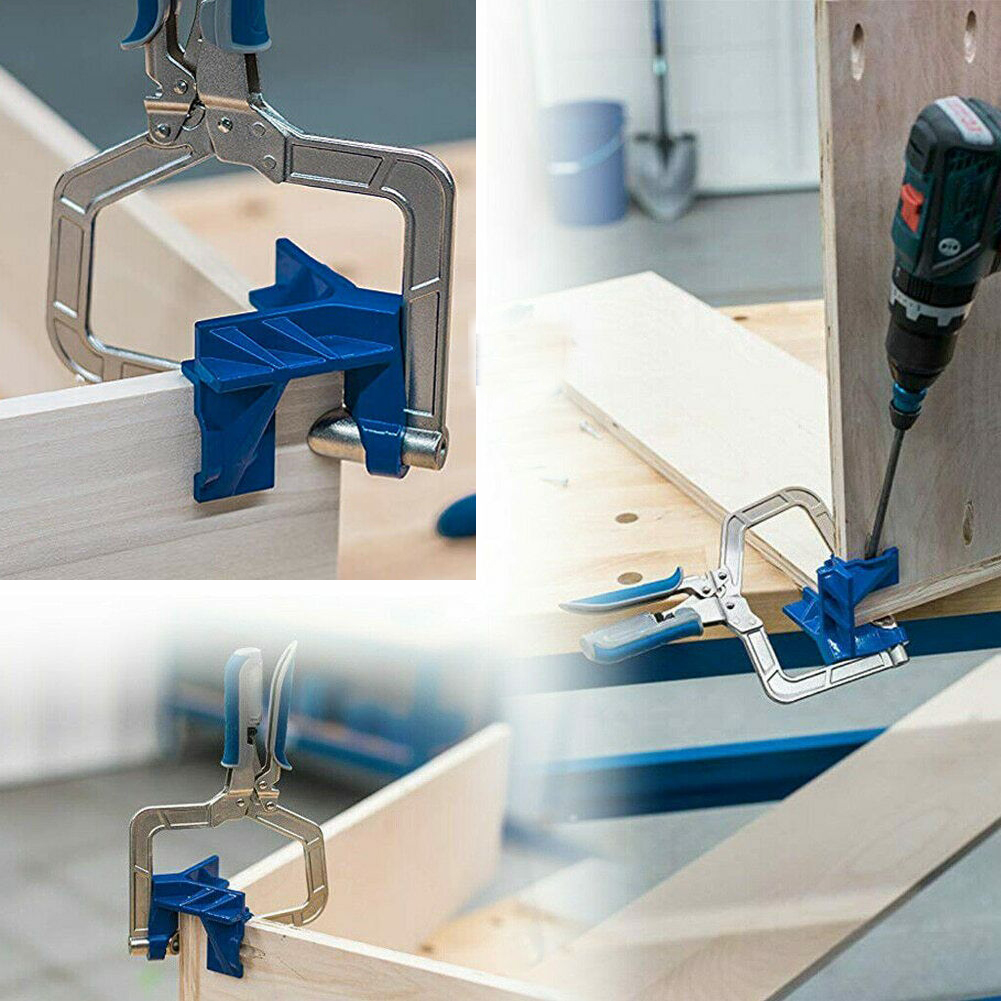 1PC 90 Degree Right Angle Woodworking Clamp Picture Frame Corner Clip Hand Tool Clamps for Woodworking 90 degree right angle clamp