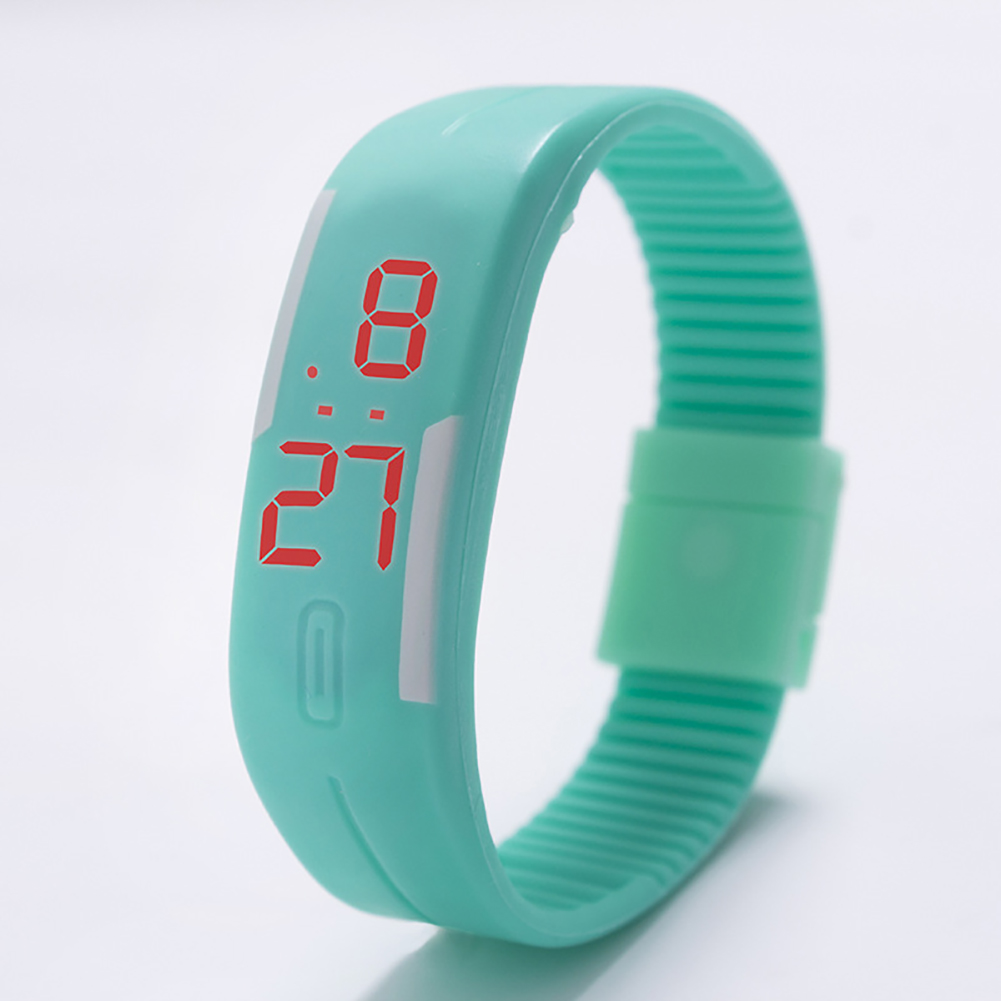 Fashion Top Brand Luxury Unisex Men's Watch Silicone Red LED Sport Watch Touch  mint
