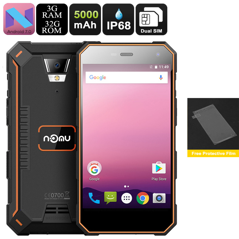 NOMU S10 Pro Android Phone (Orange)
