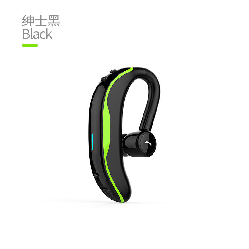 Bluetooth Headphone Ear Hook Earphone Noise Cancelling In-ear Handsfree Wireless Stereo Bluetooth Headset green