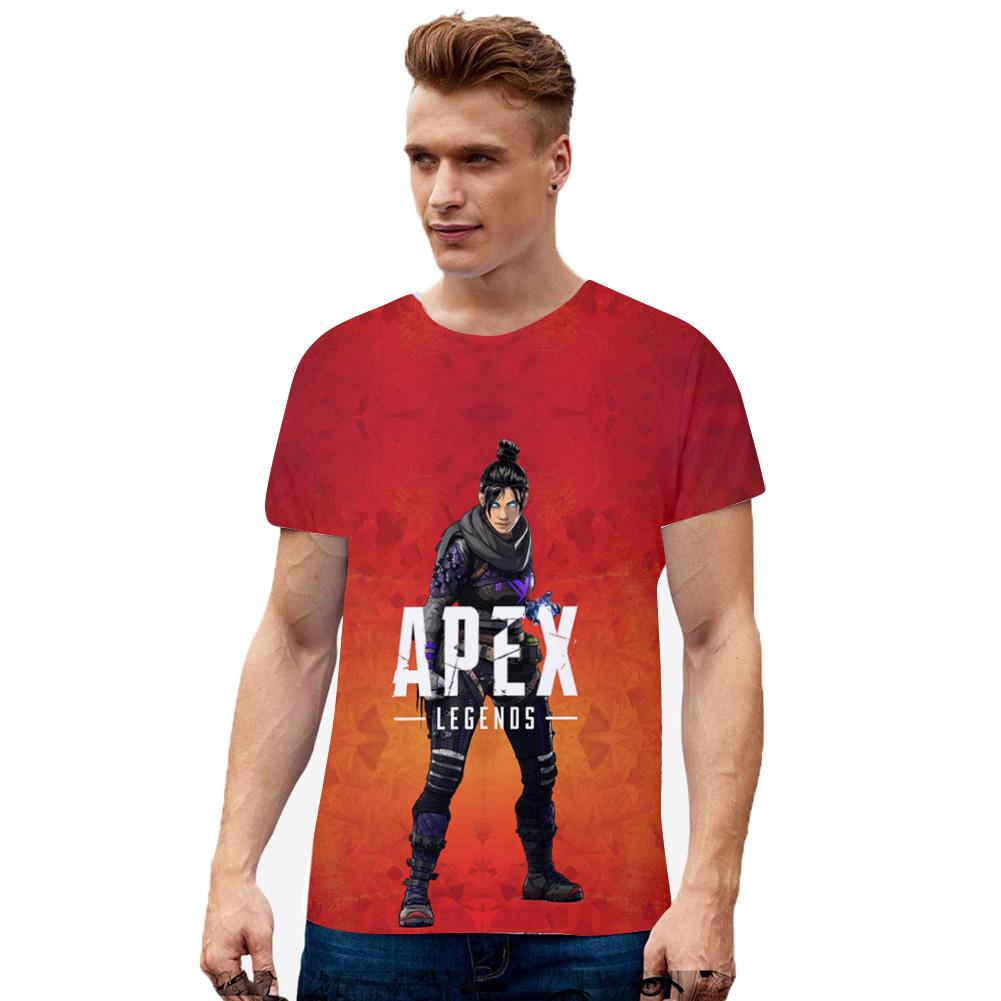 Unisex Fashion 3D Colorful Game Digital Printing Cotton T-shirt I_XXL
