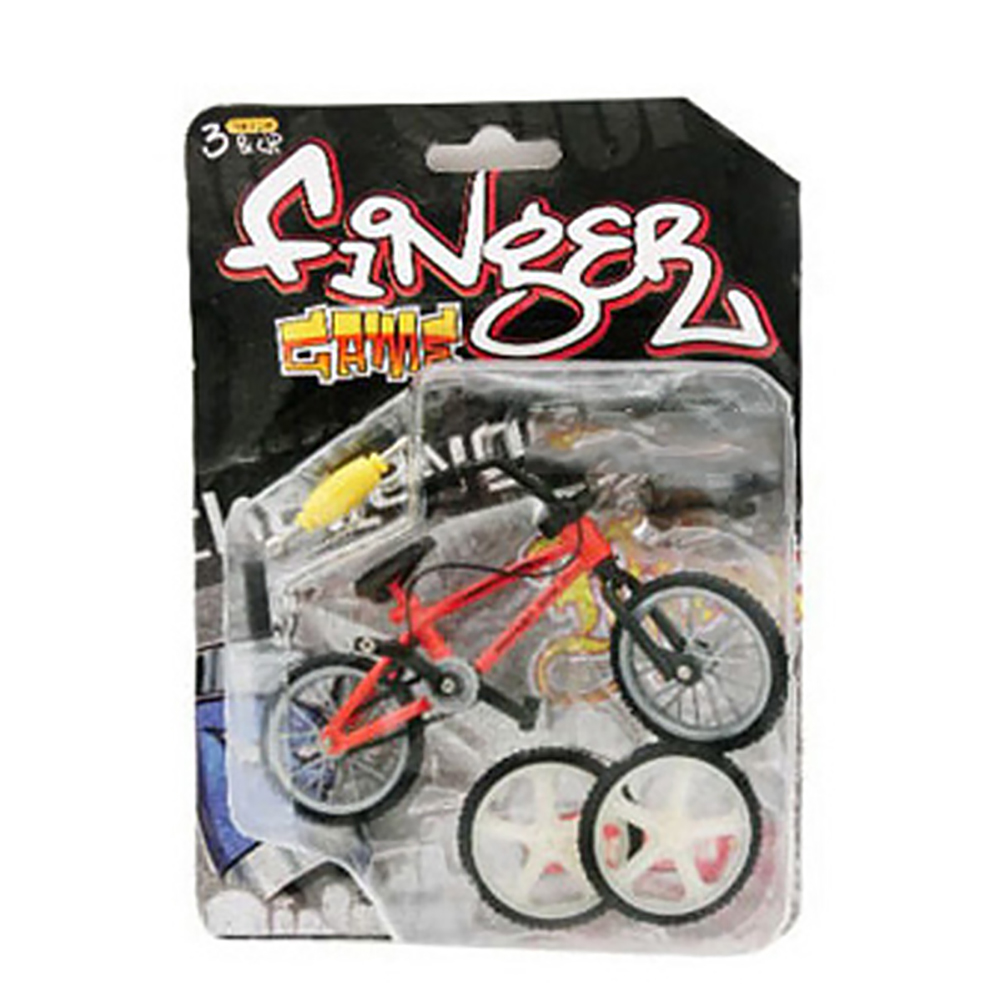 Kids Simulation Mini Alloy Finger Bicycle Spare Tire Bicycle Bikes Gift red