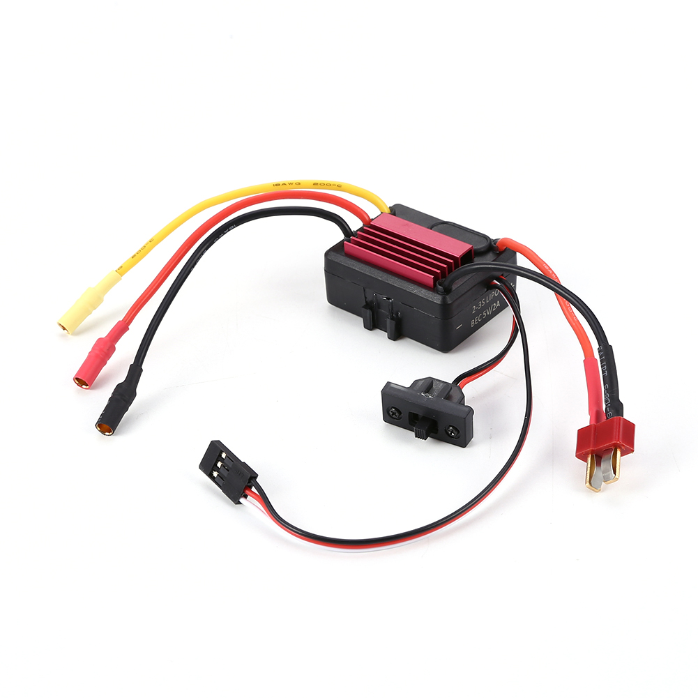 1pc Waterproof 35A ESC Brushless Motor Sensorless Engine Speed Controller for 1/16 1/18 1/20 RC Car as shown