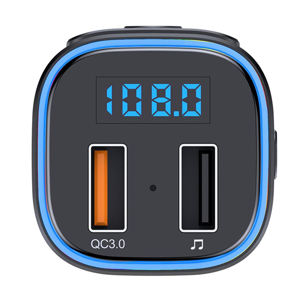 T46 Car Bluetooth MP3 Player Car Kit QC3.0 Quick-Charging LED Backlit Wireless Bluetooth FM Transmitter Car Music Player QC3.0