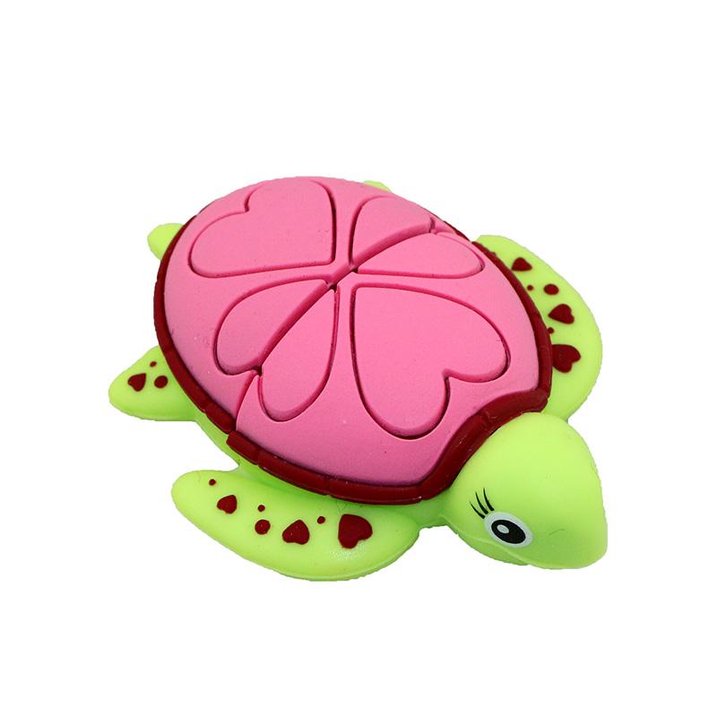 Fashion Cute Red Love Shape Turtle L28 U Disk Flash Drive Pink_32G