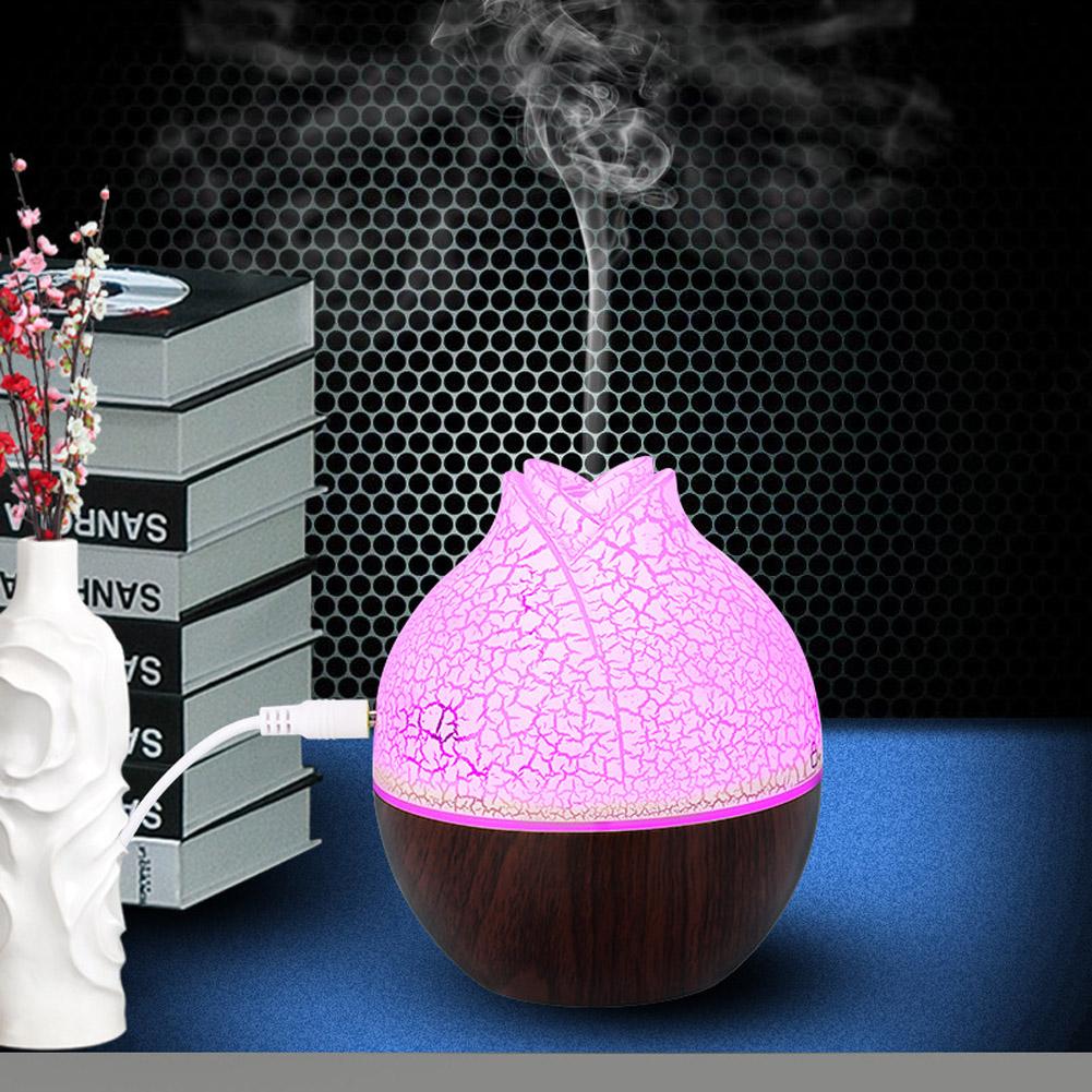 USB Air Humidifier Home Office Mute Mini Aromatherapy Mist Maker Dark crack
