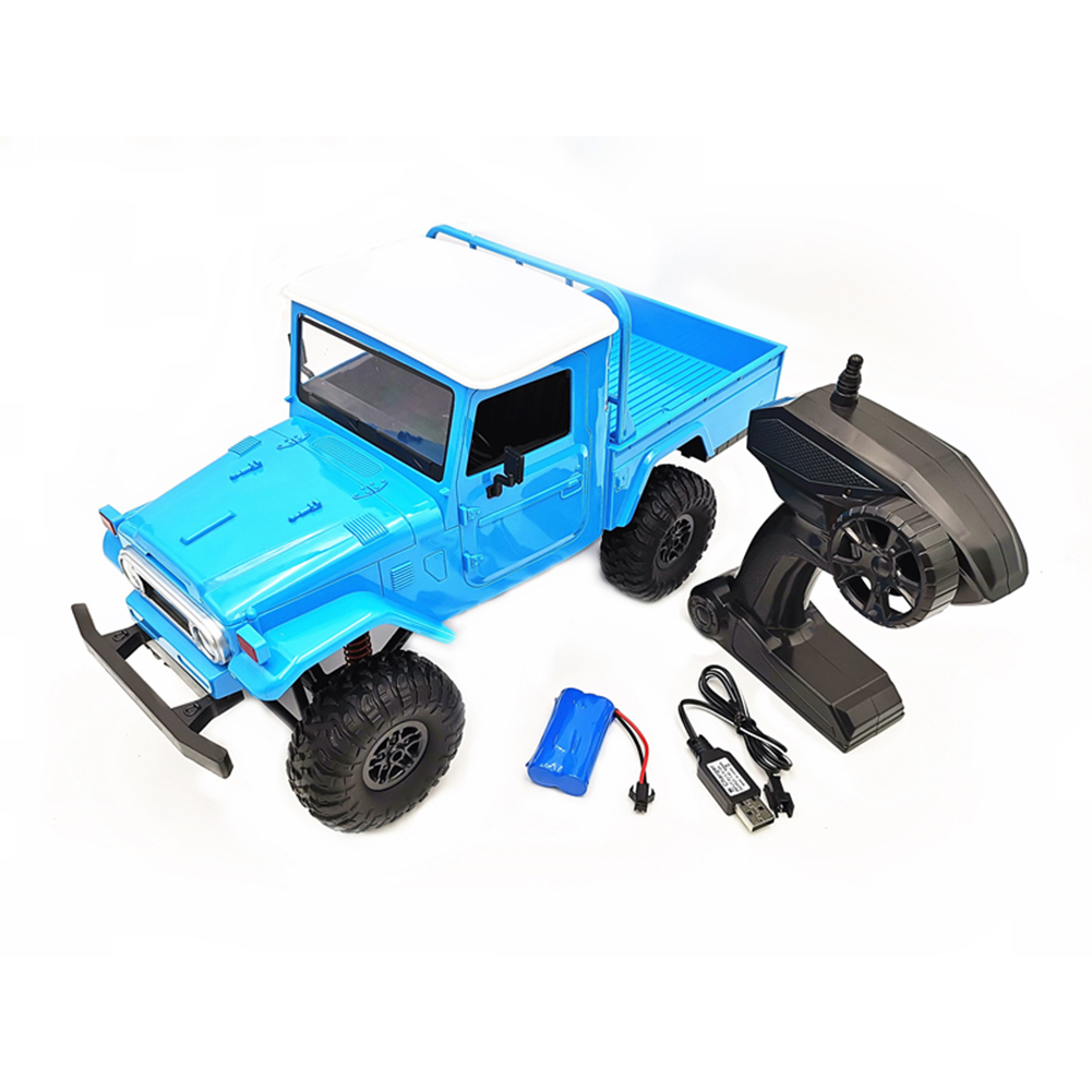 MN Model MN45 RTR 1/12 2.4G 4WD RC Car with LED Light Crawler Climbing Off-road Truck Blue