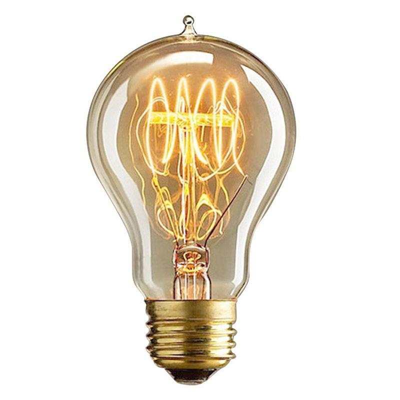 Retro Decorative Edison Tungsten Filament Bulb Creative LED E27/E26 Screw Cap Light Adjustable Incandescent Pointed Tip Bulb