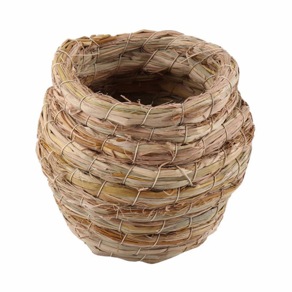 Straw Plaited Bird Nest Hanging Breeding Box Birdcage for Pigeon Finch Canary Budgie Parrot Decoration Small hanging birdhouse