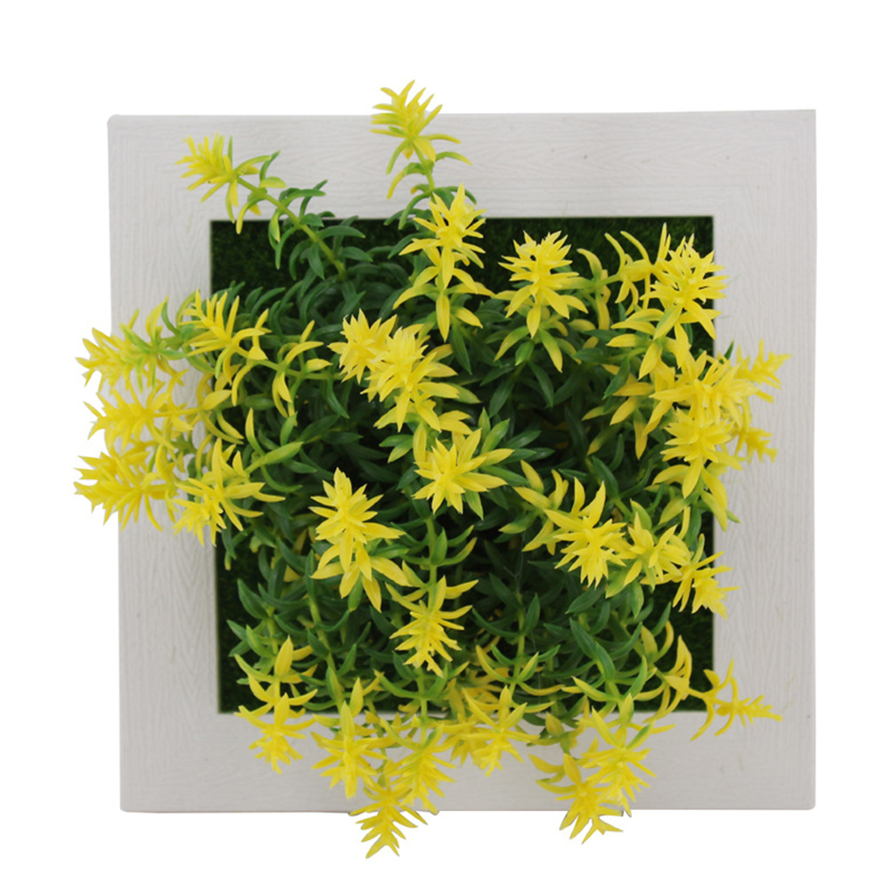 Simulate Plant Photo Frame Wall Ornament Home Office Hotel Decoration   17A