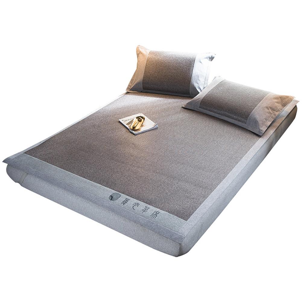 3Pcs/Set Foldable Sleeping Mat Pillow Case Set Argy wormwood/Lavender Lavender mat-gray
