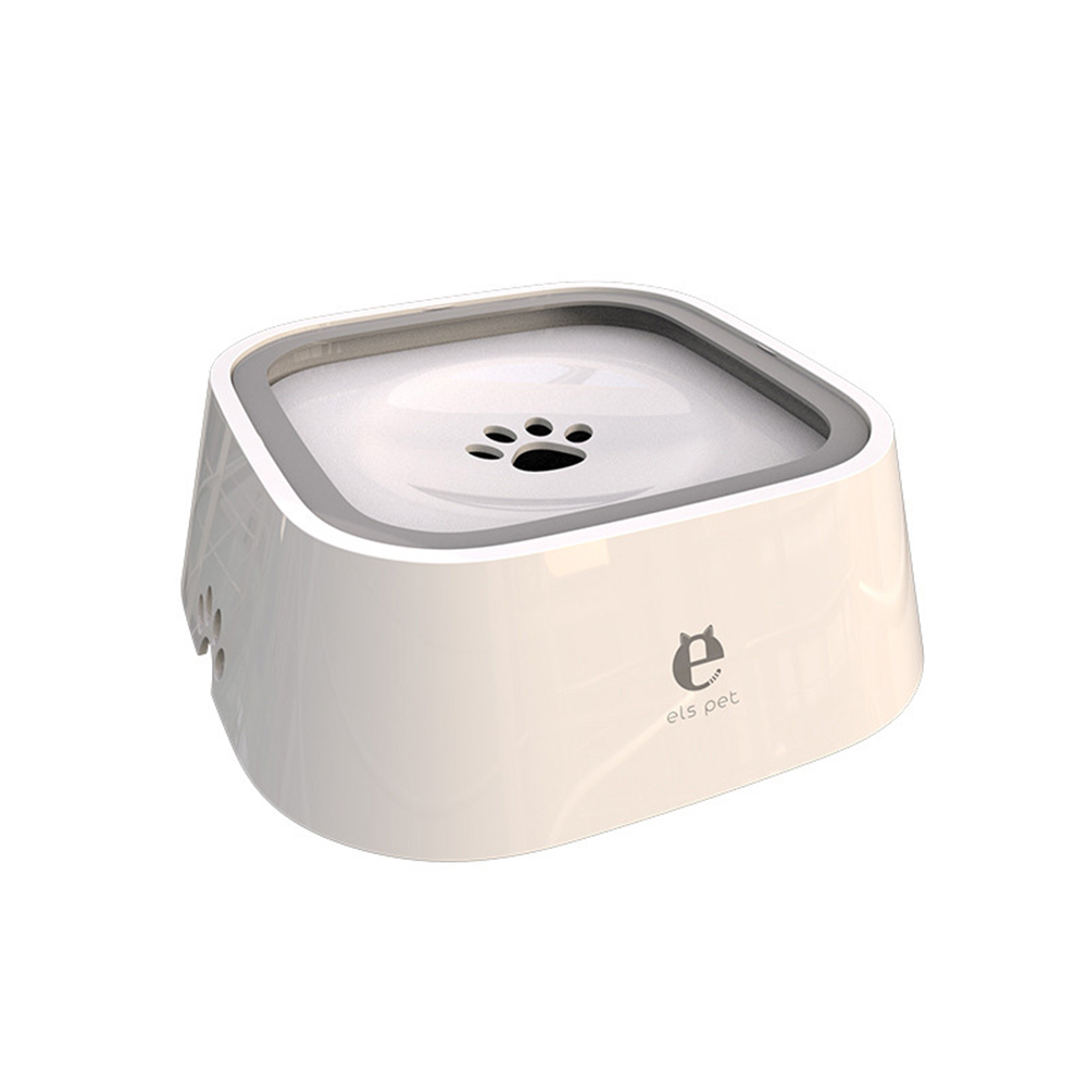 Pet Floating Bowl Splash-proof Non-wetting Mouth Hair Water Bowl Non-slip Beard Pet Drinking Bowl 4 Colors Available White