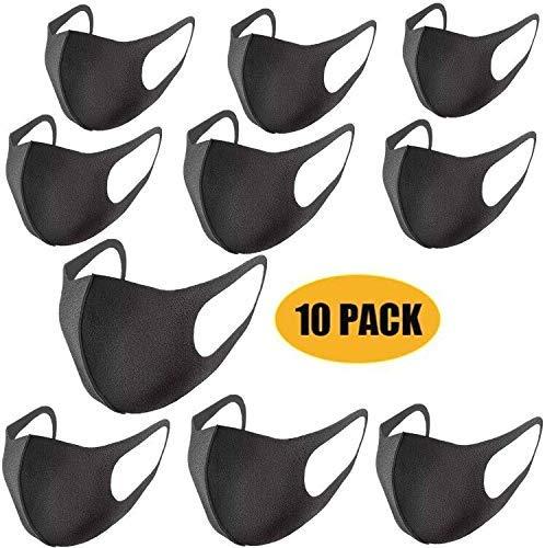 10pcs Thin Face Sponge Mask black