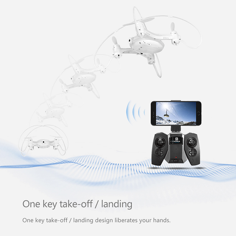Mini Drone SMAO M7S - 0.3MP Camera, FPV, 100m Control Distance, 380mAh Battery, WiFi (Black)