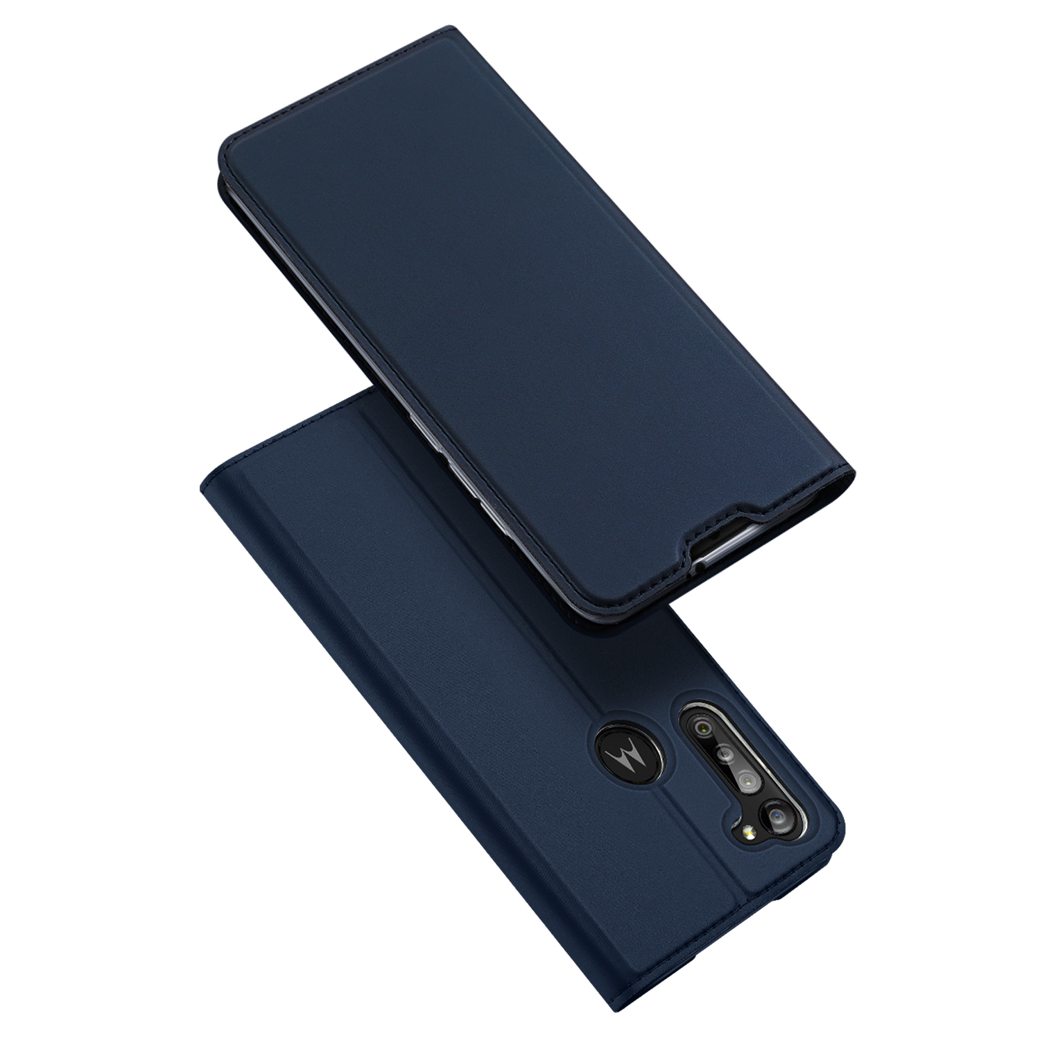 DUX DUCIS For Moto G8/G8 Power Leather Mobile Phone Cover Magnetic Protective Case Bracket with Cards Slot Royal blue_Moto G8 Power
