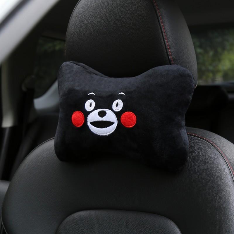 Car Cartoon Headrest Neck Pillow Comfort Cushion Neck Pillow Cushion Cute Cartoon Car Seat Headrest Car Supplies Black bear