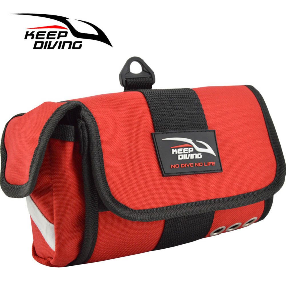 Shakeproof Storage Bag Diving Bag for Masks + Tubes Snorkels Quick Dry Portable Scuba Diving Accessories red_Free size