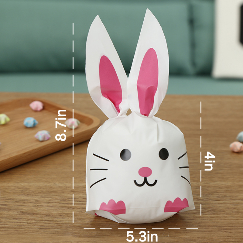 50pcs Bunny Shape Party Gift Bags
