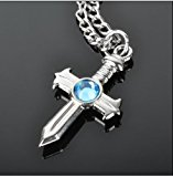 [EU Direct] NuoYa001 New Cosplay Jewelry Toy Anime Fairy Tail Gray Fullbuster Cross Necklace Pendant