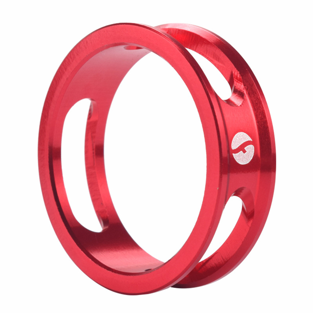 Mountain Bike Front Fork Washer Road Bike Headset Washer Aluminum Alloy CNC Hollow Highten Ring red