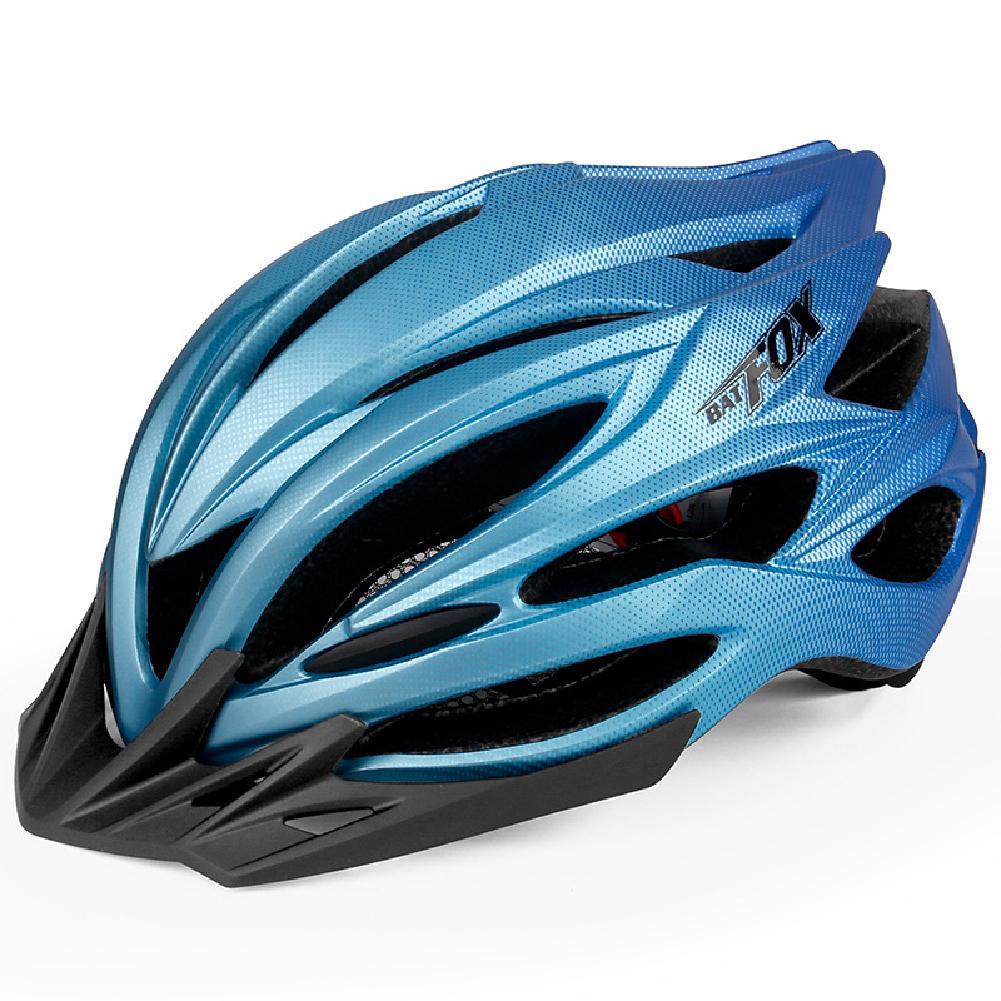 Bicycle Helmet Eps Mountain Bike Riding Helmet Skateboard  Safety  Helmet  With Light Black blue_Free size
