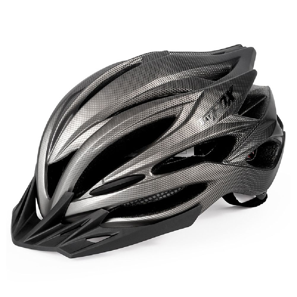 Bicycle Helmet Eps Mountain Bike Riding Helmet Skateboard  Safety  Helmet  With Light Black titanium_Free size