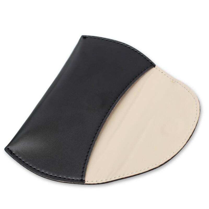 [US Direct] LENTION Split Leather Sleeve Magnetic Snaps Case Bag, Soft Touch, Compatible for Apple Mouse (Black) Black