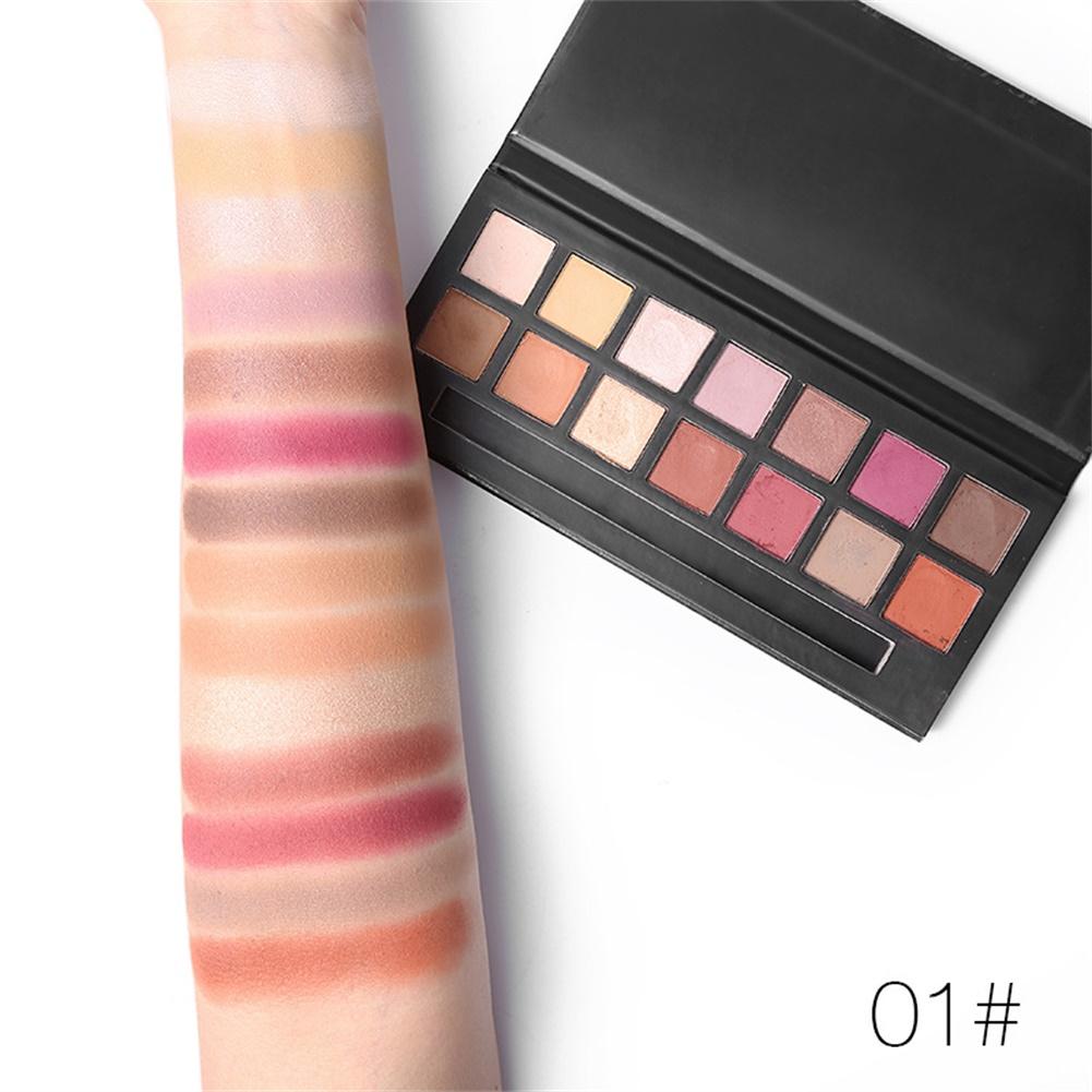 14 Colors Cosmetic Eye Shadow Pallete Nude Matte Shimmer Metallic Eyeshadow