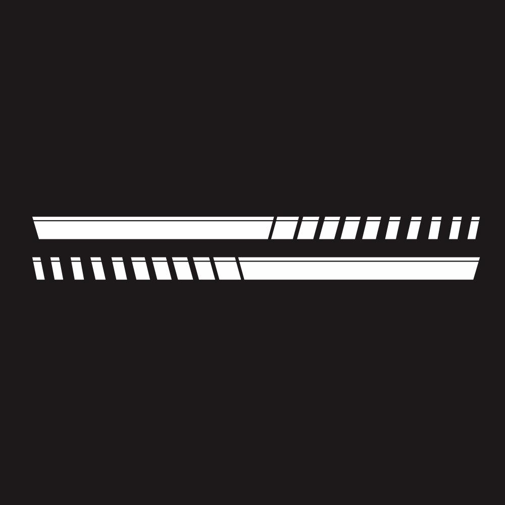 For Pickup Truck Vinyl Decal Sticker Graphics Sport Side Door Stripe Car Sticker  white