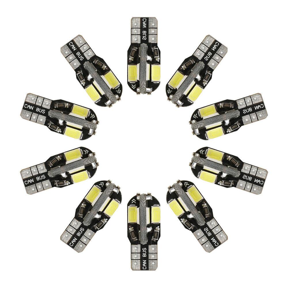 10 Stk T10 Smd Led Light Car Canbus Lamp Standing Light Interior Lighting 12v Bagged