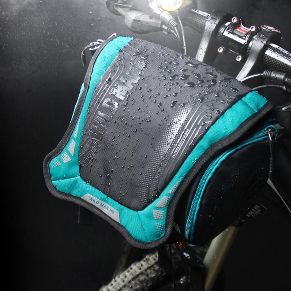 Bike Mountain Bike Waterproof Front Handle Bar DSLR Camera Bag blue_One size