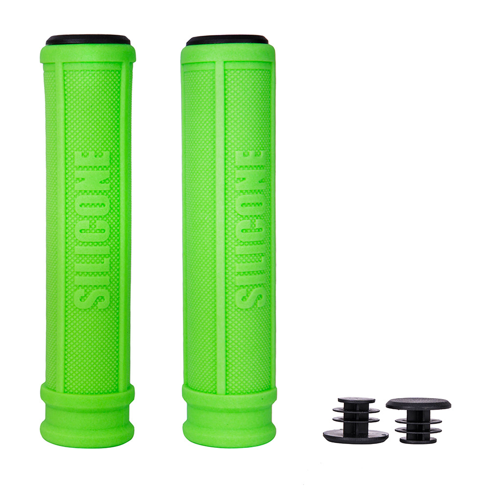 ZTTO/ Bicycle Handlebar Cover Pattern Non-slip Color Silicone Handle Sets Mountain Road Bike Comfortable Handlebar Cover green