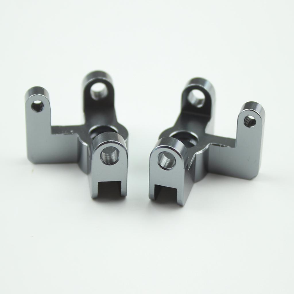 Wltoys 144001 1/14 RC Car Spare Parts 144001-1251 Upgrade Metal Front Wheel Seat titanium color_1 pair