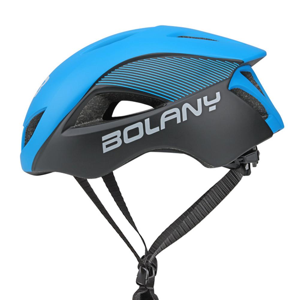 Ultralight Integrated Cycling Helmet Road Mtb Bike Safe Helmet  blue_One size