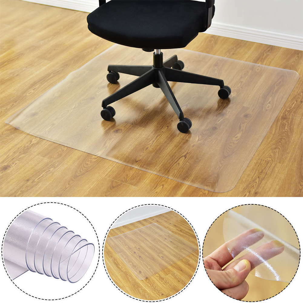 Transparent Nonslip Rectangle Floor Protector Mat for Home Office Rolling Chair
