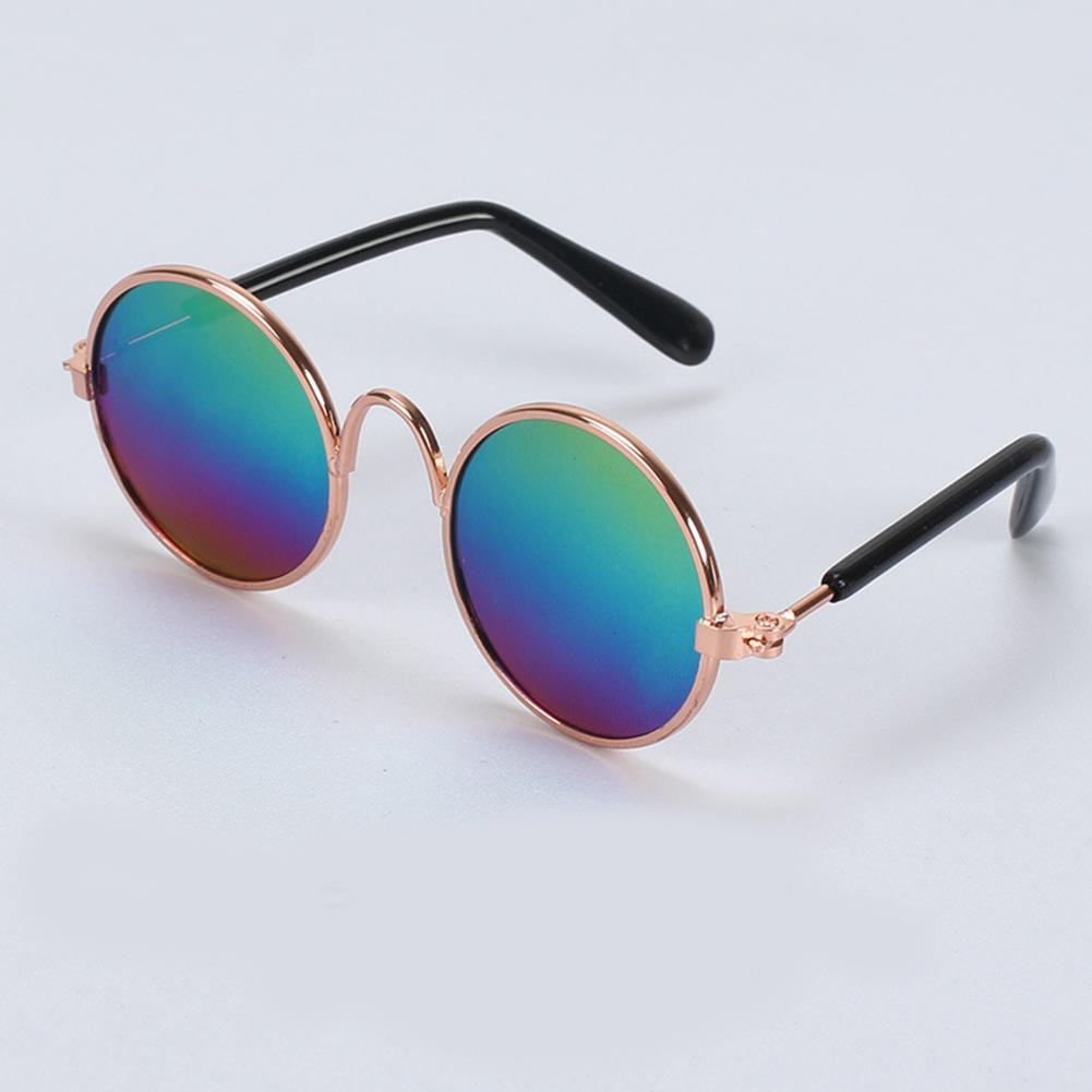 Fashion Mini One Size Sunglasses for Pet Dog Teddy Cat Outdoor Wear five colors_One size