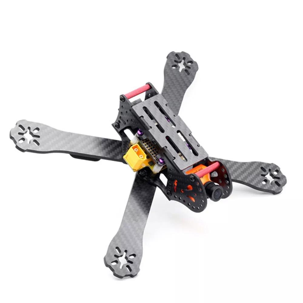 HSKRC AL220 220mm Wheelbase 4mm Arm 3K Carbon Fiber Racing Frame Kit w/ 5V 12V PDB for RC Drone 220mm